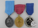 Three German Fire Fighters Medals and Awards
