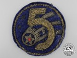 A United States Chinese Theater-Made 5th Air Force Patch