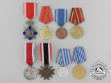A Lot of Eight European Medals, Awards, and Decorations
