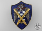 A Spanish Franquist Students League of the Falange Army Badge