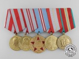 A Soviet Russian Armed Forces Jubilee Group of Five