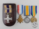 A Military Cross & Bar to Acting Major George Barnes for Front line 1916 Actions outside Neuvelle Ste. Vaast