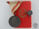 A First War Hungarian Commemorative Medal in Case