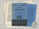 A 1940 Oxford Pamphlet on The Gestapo