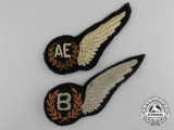 Two Second War RAF/RCAF Wings