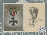 Two Second War Iron Cross German Postcards