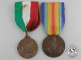 Two Italian Medals and Awards