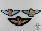 Three Army Air Observation Post/Army Service/Glider Pilots Wings Badges