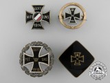 Four German First War Iron Cross Badges