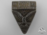 """A 1935 District Day of the NSDAP of """"The Victorious District"""" Badge"""