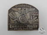 A 1936 District Day Badge for Ennepe-Ruhr