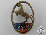 A 1936 German Olympic Equestrian Donation Badge by DOKfR HDP