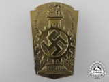 A 1934 German Labour Front & National Socialist Factory Cell Organization Meeting Badge
