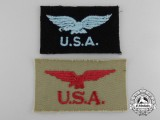 Two Royal Canadian Air Force (RCAF) American Service Patches