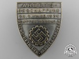A 1934 German Labour Front Employment Sourcing Badge