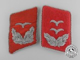 A Lot of Two Luftwaffe Flak Personnel Collar Tab Insignia