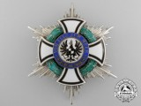 A Prussian House Order of Hohenzollern; Commander's Star by Godet