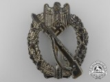 An Early War Infantry Badge; Silver Grade in Tombac