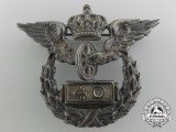 A German Imperial Railway 40 Year Service Wing Badge by Wagner