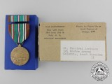 A Mint American 1941-1946 European-African-Middle Eastern Campaign Medal to Lt. Percival Levinson