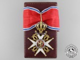 A Royal Norwegian Order of St. Olav; Commander's Cross with Swords in Gold