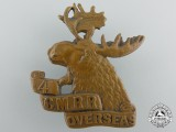 A First War Canadian 4th Mounted Rifle Battalion Cap Badge