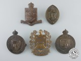 Five Second War C.O.T.C. University Cap Badges