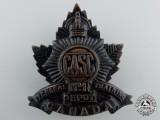 A First War Canadian Army Service Corps 1st Overseas Training Depot Cap Badge