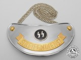 An Absolutely Mint SS Streifendienst/Patrol Service Gorget by Wilhelm Schröder & Co.