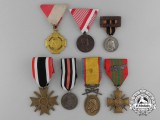 A Lot of Seven Mixed European Awards, Medals, and Decorations