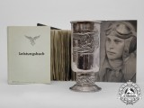 An Honor Goblet, Logbook, & Photo Grouping to the Famous 77th Stuka Attack Wing; KIA
