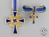 A German Gold Grade Mother's Cross with Miniature