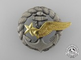 A French Naval Observer's Badge by Drago, Paris