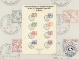 "A German Post Office ""Reichspost"" XI Berlin Summer Olympic Games Stamps Sheet"