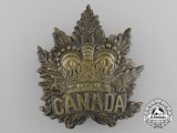 A Canadian Boer War Pith Helmet Cap Badge