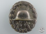 A First War German Imperial Wound Badge; Silver Grade