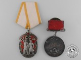 Two Soviet Russian Orders & Awards