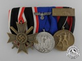 A Second War Wehrmacht Merit & Long Service Medal Bar