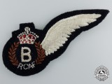 A Second War Royal Canadian Air Force (RCAF) Bombardier (B) Wing