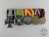 A First & Second Medal Bar of a Frontline Officer from Baden