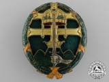 A Hungarian Officer's Combat Leadership Badge 1920-1944