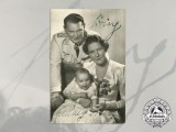 An Rare Picture Postcard Signed by Herman & Emma Göring