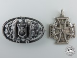 Two First War Imperial German Patriotic Brooches