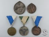 Five Hungarian Sport & Shooting Medals