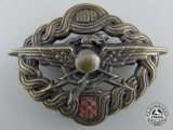 A Second War Croatian Radio Operator & Air Gunner Badge