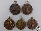 Five Italian Medals and Awards