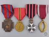 Four Belgian Orders, Medals, and Awards