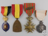 Four Belgian Orders and Medals