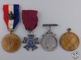 Four Dutch Medals and Awards