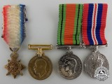 Four Miniature British Service Medals
